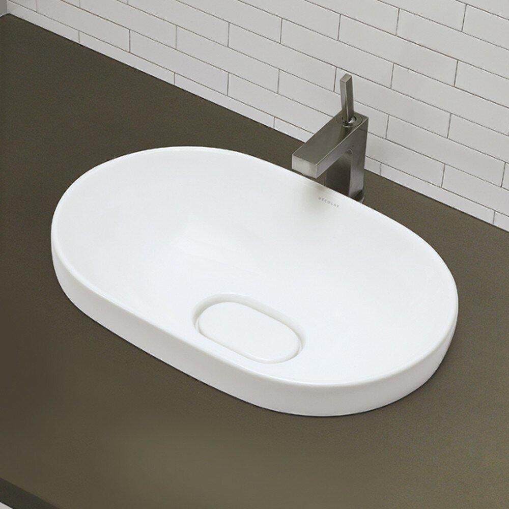 Decolav Classically Redefined Semi Recessed Oval Bathroom