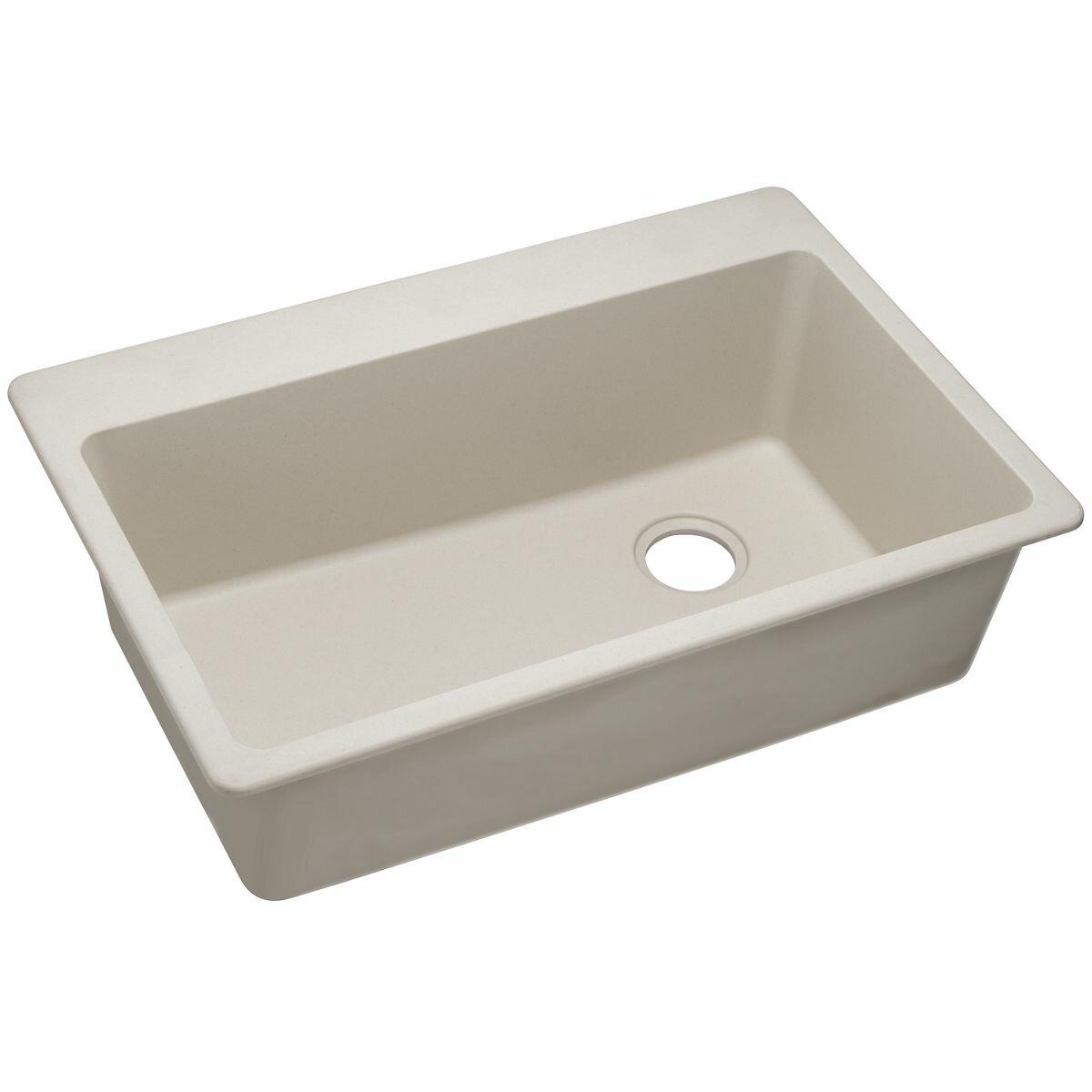 Elkay Quartz Classic 33 X 22 Single Bowl Top Mount Kitchen Sink Reviews Wayfair
