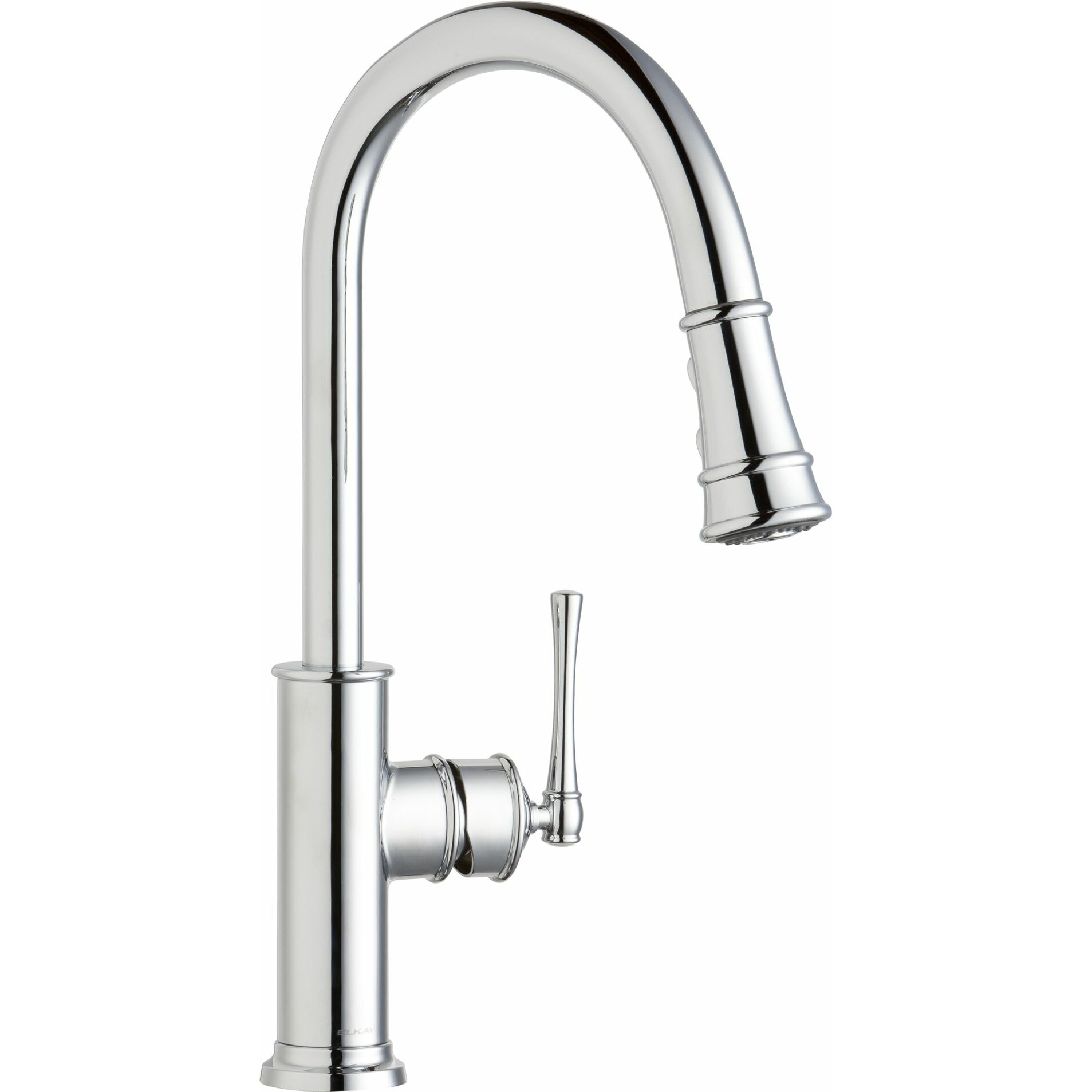 elkay explore single handle deck mount kitchen faucet shop elkay explore chrome 2 handle pull down kitchen