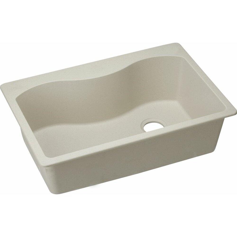 "Elkay Quartz Classic 33"" X 22"" Kitchen Sink & Reviews"