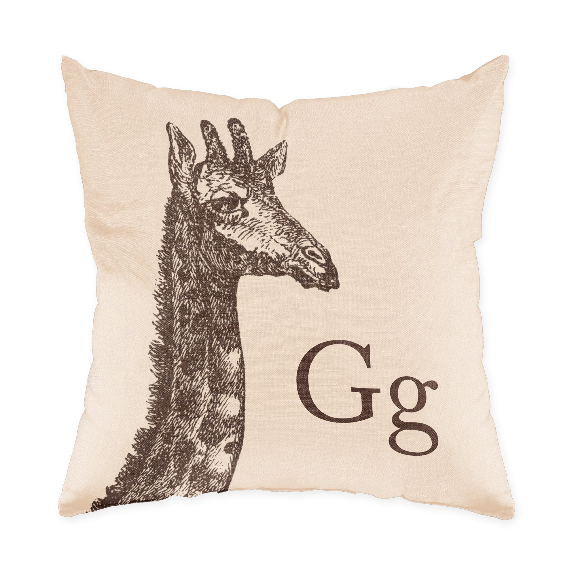 Checkerboard Giraffe Throw Pillow & Reviews Wayfair