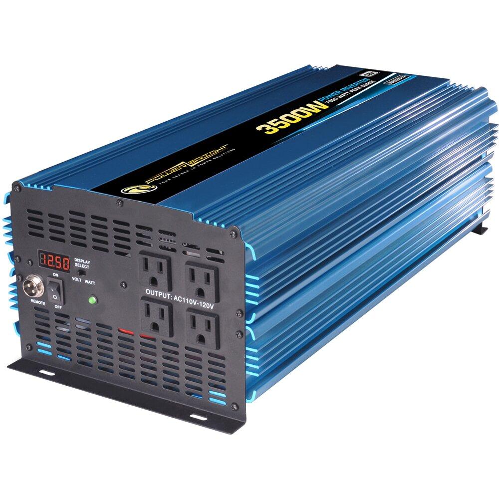 Power Bright 12V DC to 110V AC 3500W Power Inverter  : 12V DC to 110V AC 3500W Power Inverter PW3500 12 from www.wayfair.com size 1000 x 1000 jpeg 212kB
