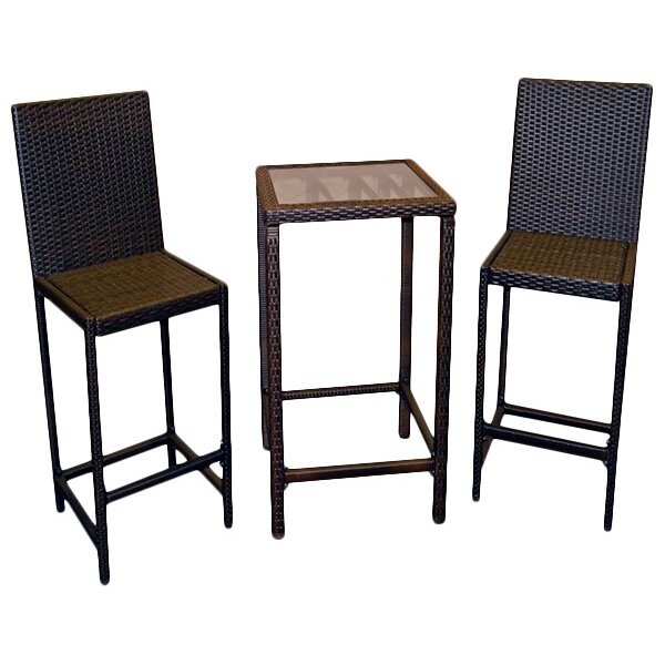 Az Patio Heaters Wicker 3 Piece Bar Set Amp Reviews Wayfair