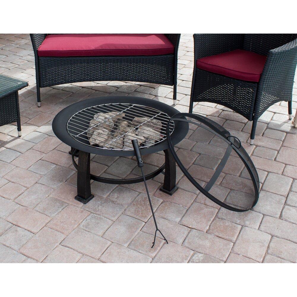 Az patio heaters wood burning fire pit reviews wayfairca for Az patio heaters fire pit