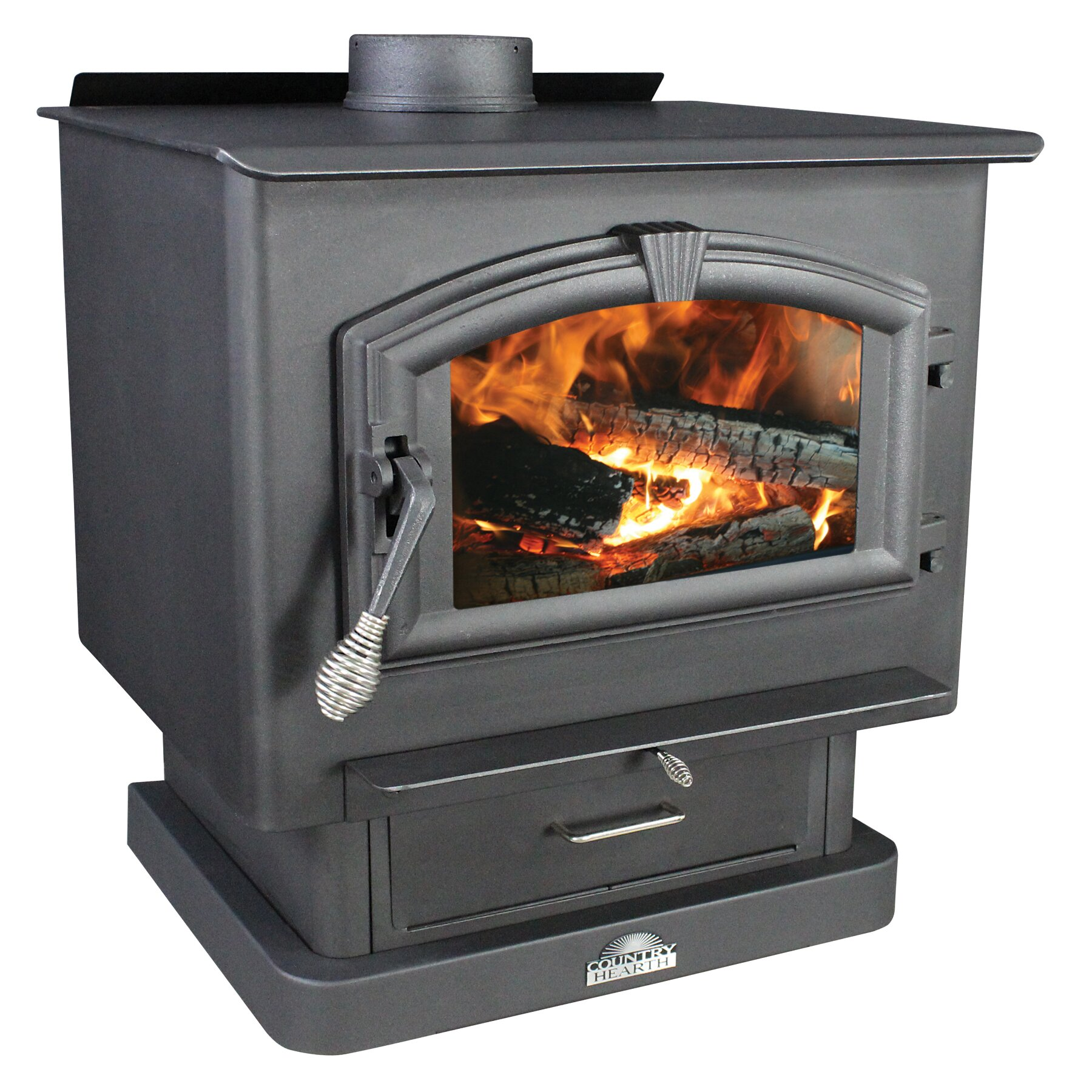Us stove 2 000 square foot wood stove with blower for Hardwood floors 2000 sq ft