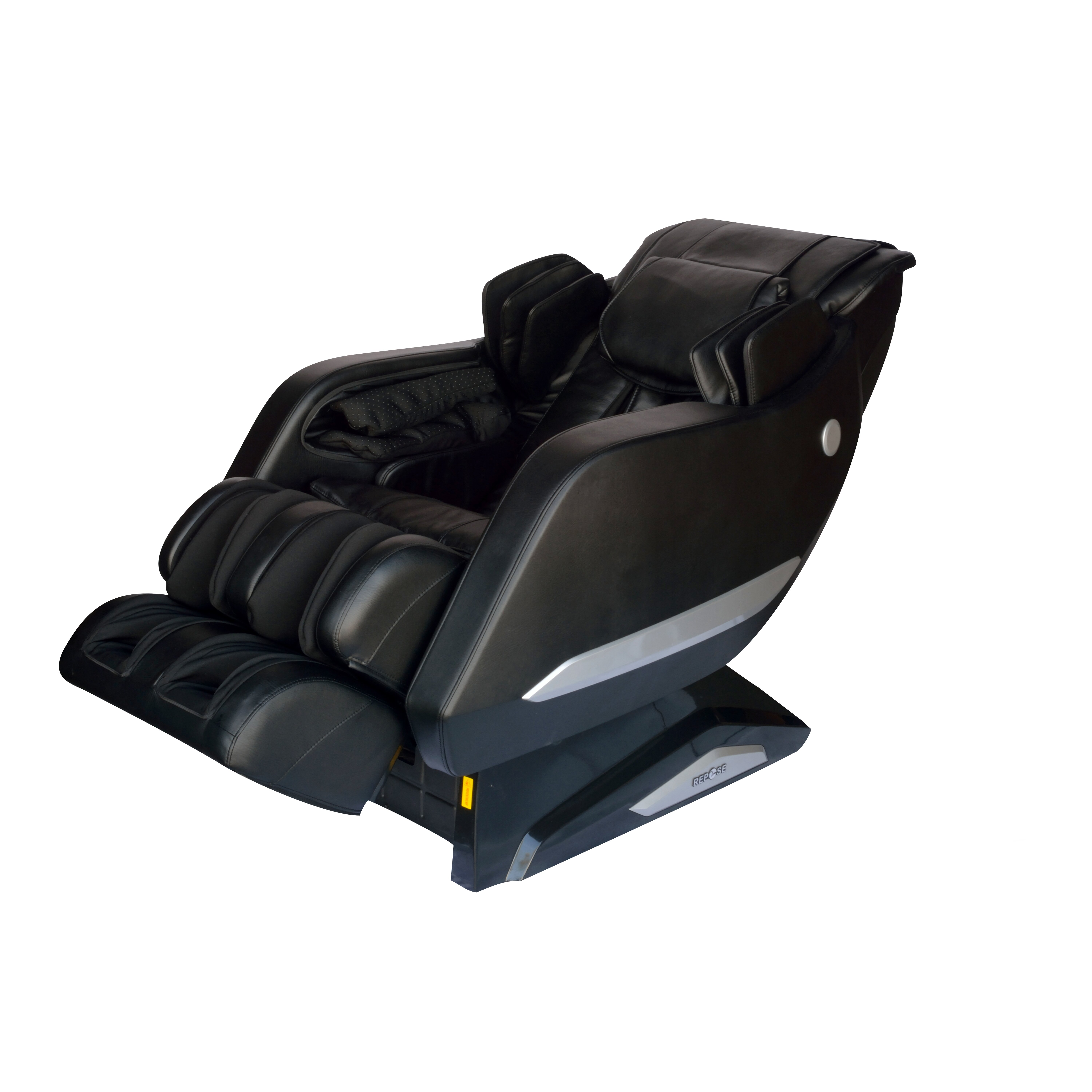 repose faux leather reclining zero gravity massage chair wayfair