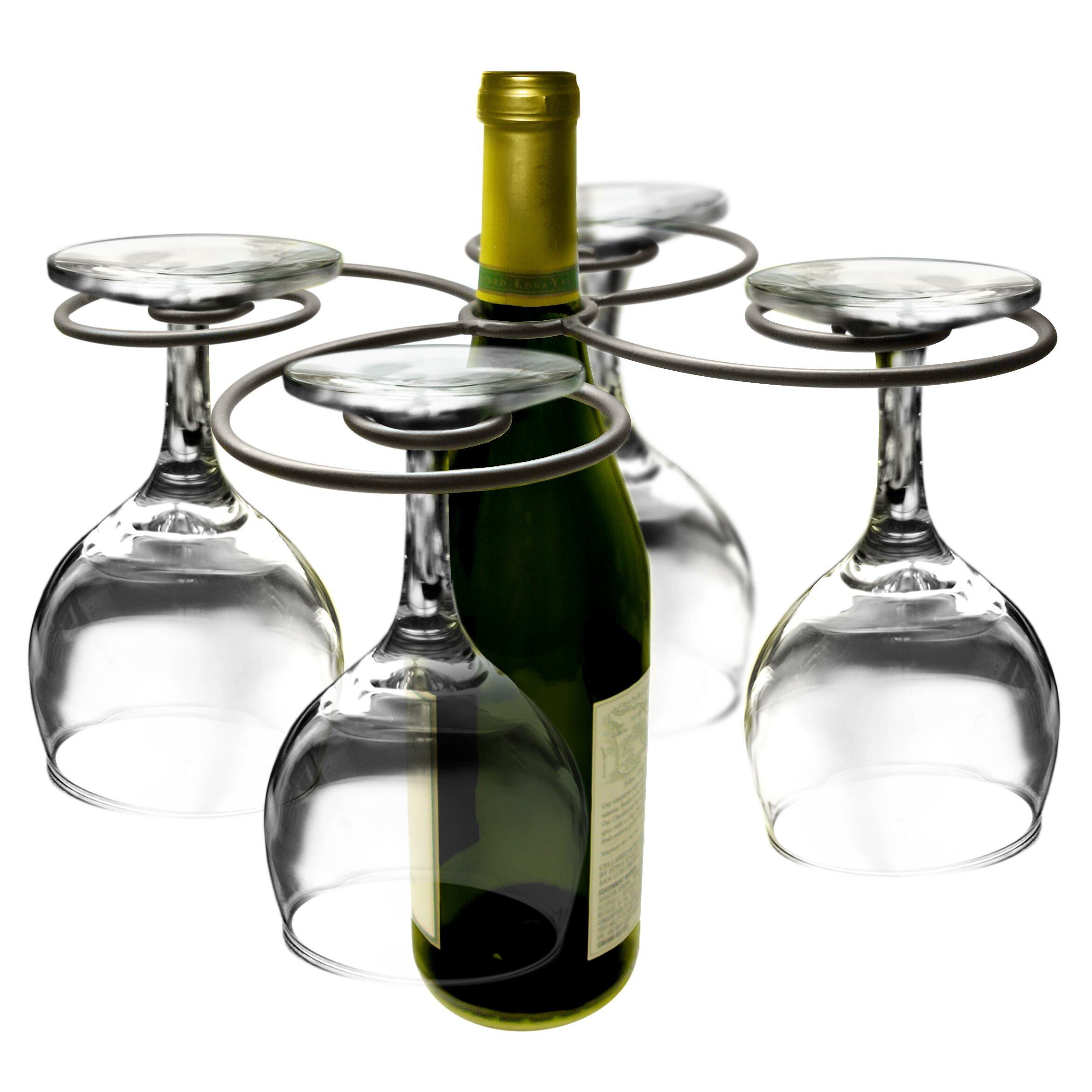 Epicureanist Swirl 1 Bottle Tabletop Wine Rack Wayfair