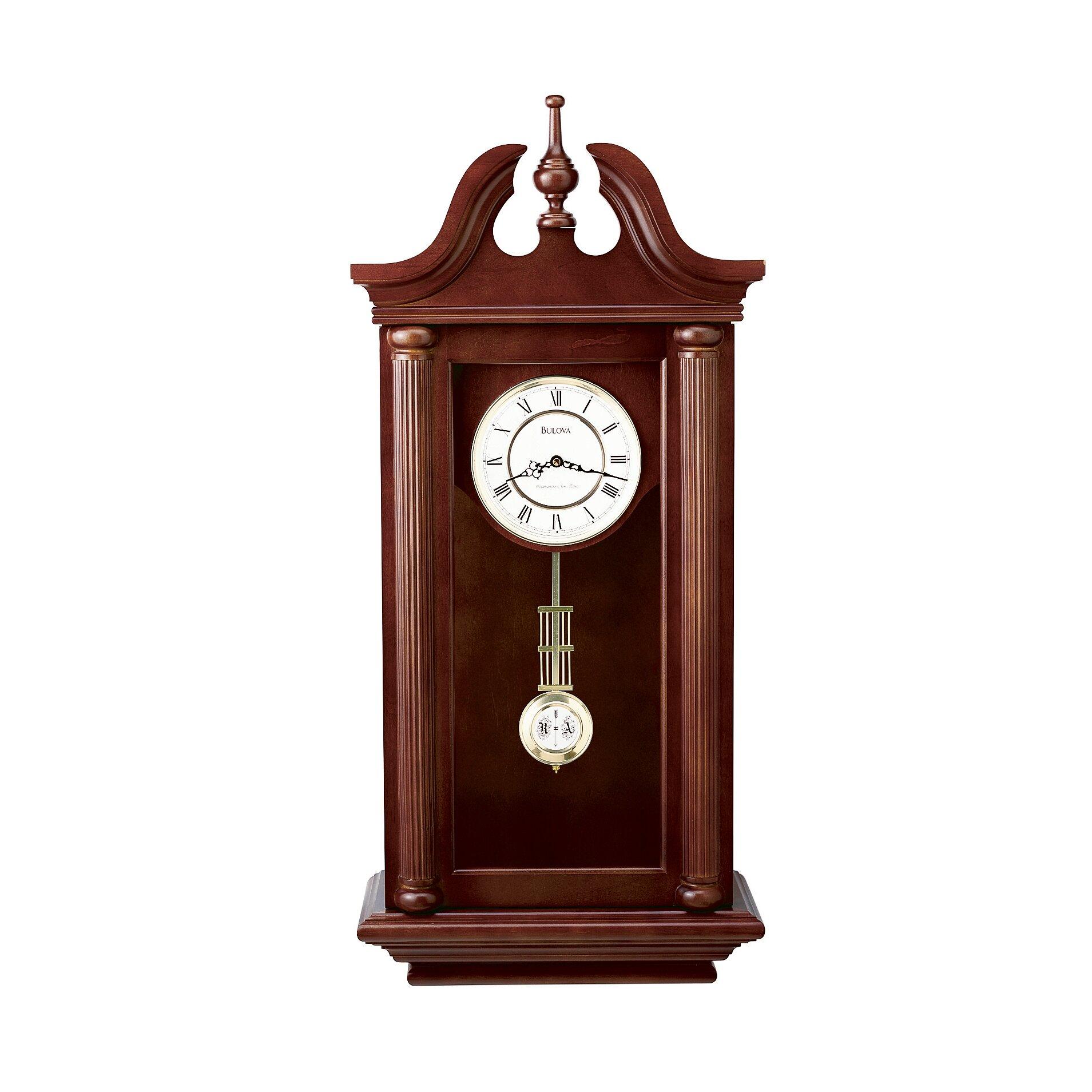 bulova manchester pendulum wall clock reviews wayfair
