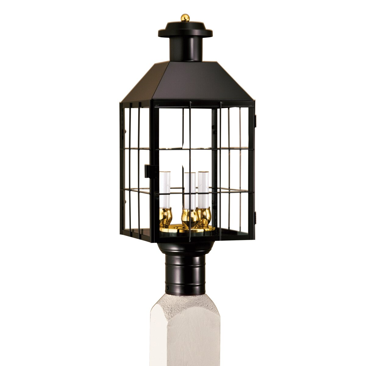 Outdoor Post Light Bulbs: Norwell Lighting American Heritage 3 Light Outdoor Post