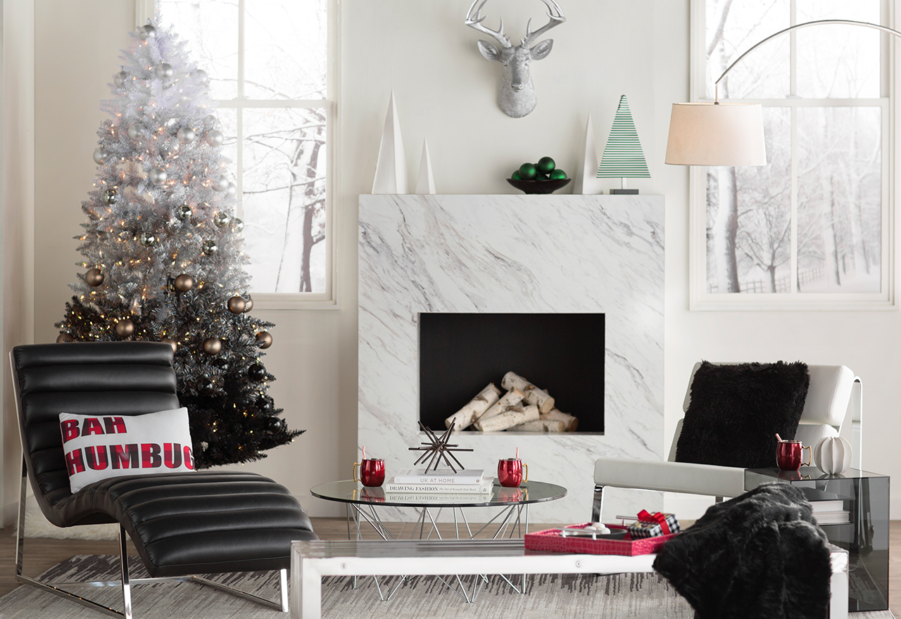 Sleek chic holiday living room sale allmodern for Sleek living room