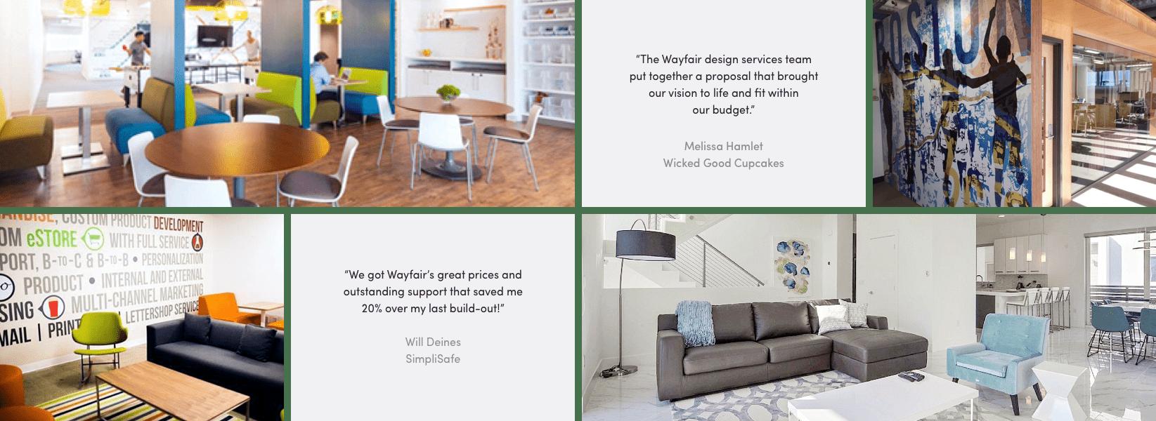 Business Interiors customer quotes